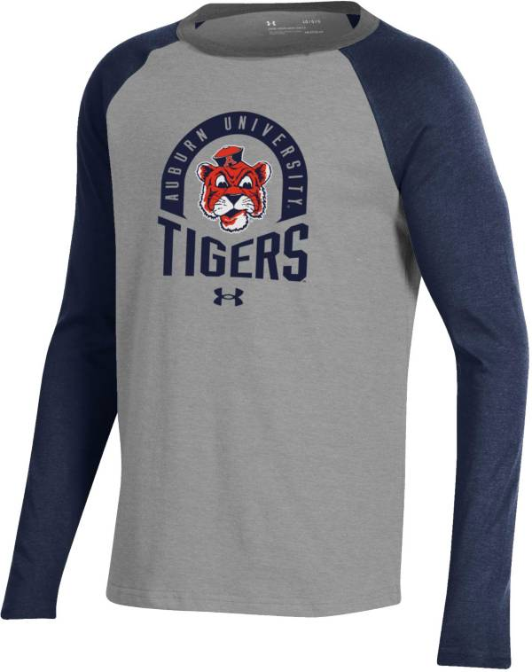 Under Armour Youth Auburn Tigers Blue Performance Cotton Baseball T-Shirt product image