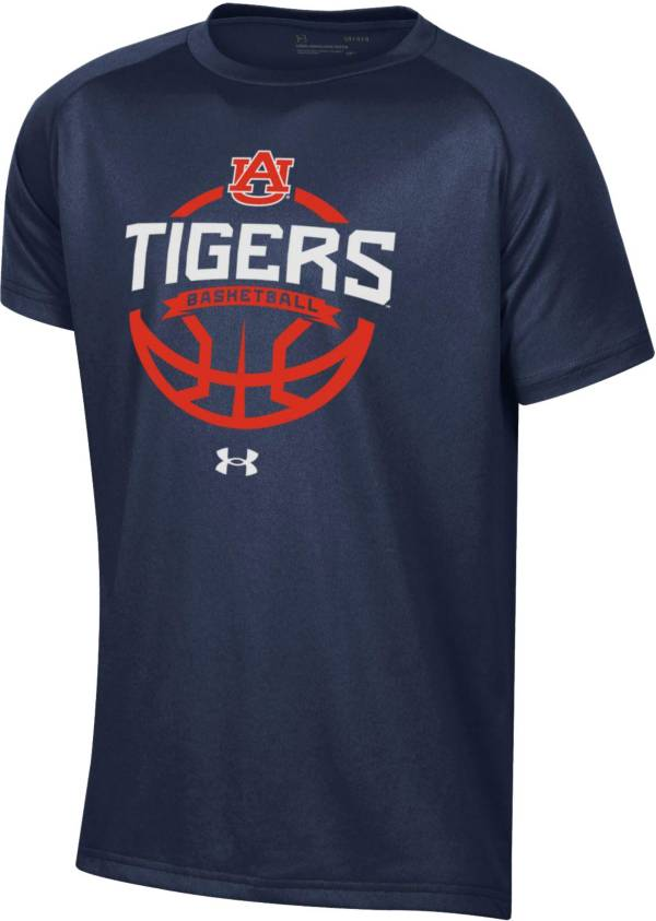 Under Armour Youth Auburn Tigers Blue Tech Performance Basketball T-Shirt product image