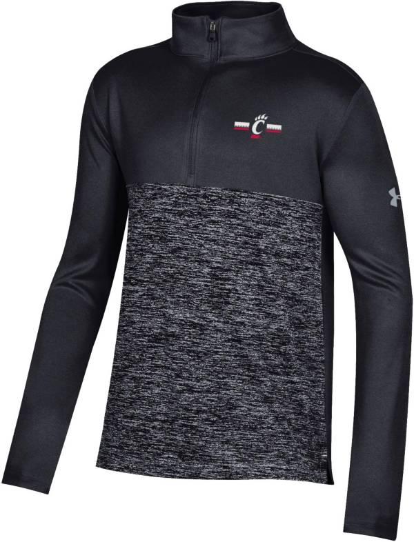 Under Armour Youth Cincinnati Bearcats Twist Quarter-Zip Performance Black Shirt product image