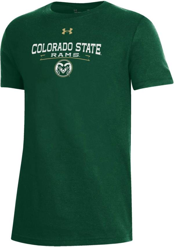 Under Armour Youth Colorado State Rams Green Performance Cotton T-Shirt product image