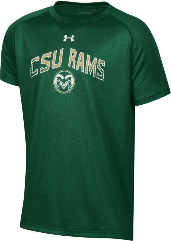 Under Armour Youth Colorado State Rams Green Tech Performance Long Sleeve T-Shirt product image