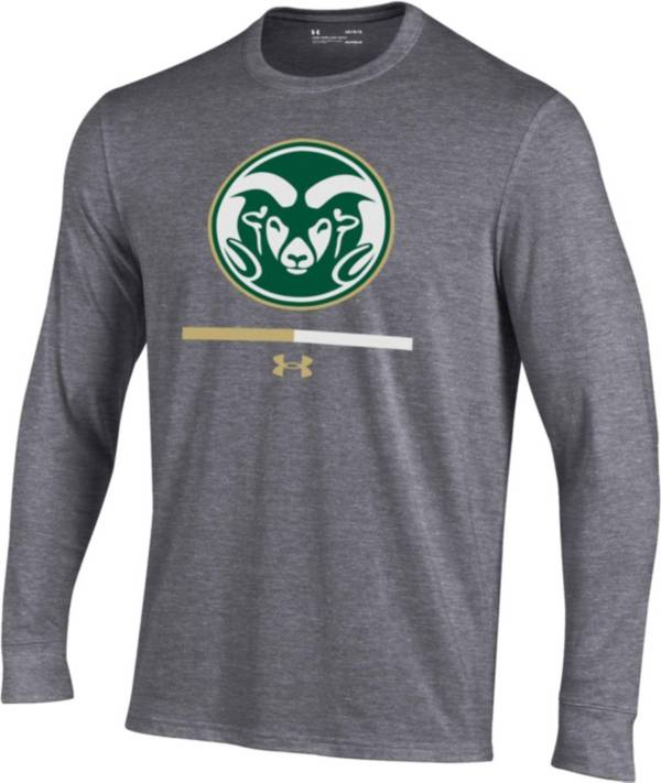 Under Armour Youth Colorado State Rams Grey Charged Cotton Long Sleeve Performance T-Shirt product image