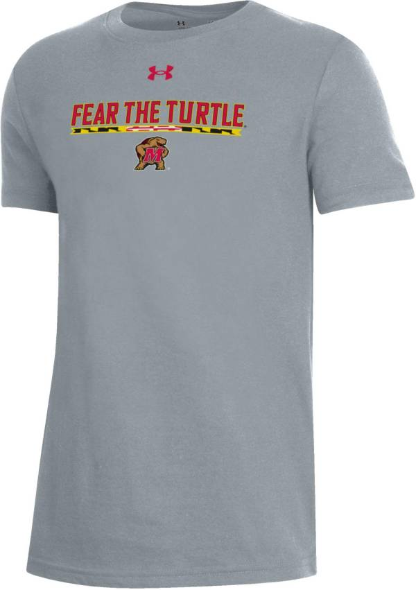 Under Armour Youth Maryland Terrapins 'Maryland Pride' Grey Performance Cotton T-Shirt product image
