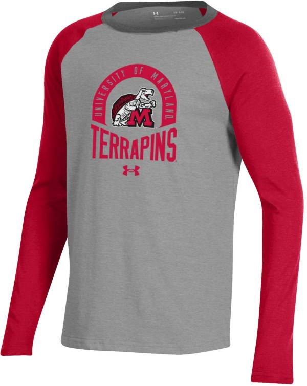 Under Armour Youth Maryland Terrapins Red Performance Cotton Baseball T-Shirt product image