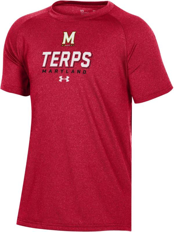 Under Armour Youth Maryland Terrapins Red Tech Performance T-Shirt product image