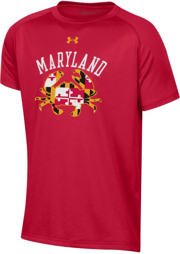 Under Armour Youth Maryland Terrapins Red 'Maryland Pride' Tech Performance Long Sleeve T-Shirt product image