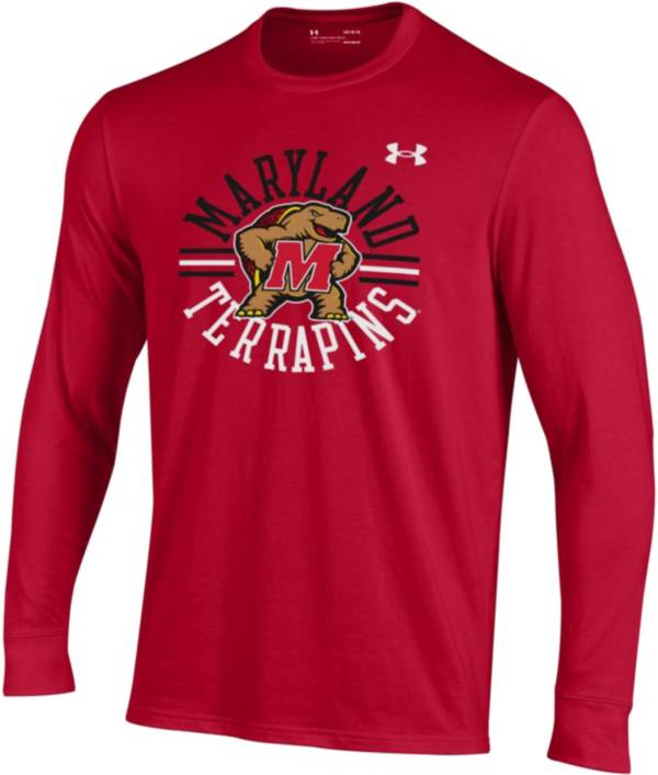 Under Armour Youth Maryland Terrapins Red Performance Cotton T-Shirt product image