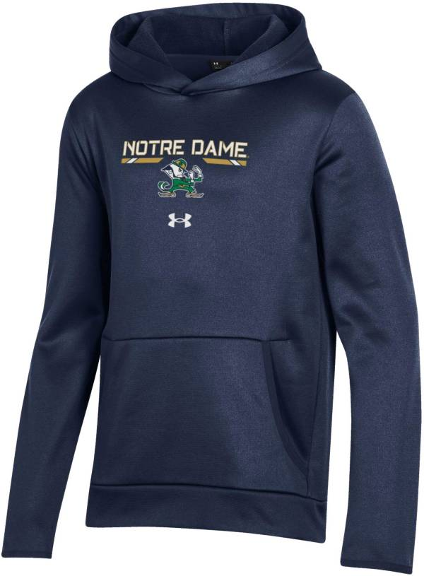 Under Armour Youth Notre Dame Fighting Irish Navy Armour Fleece Pullover Performance Hoodie product image