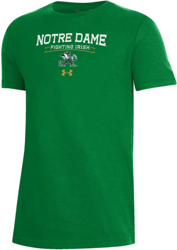 Under Armour Youth Notre Dame Fighting Irish Green Performance Cotton T-Shirt product image