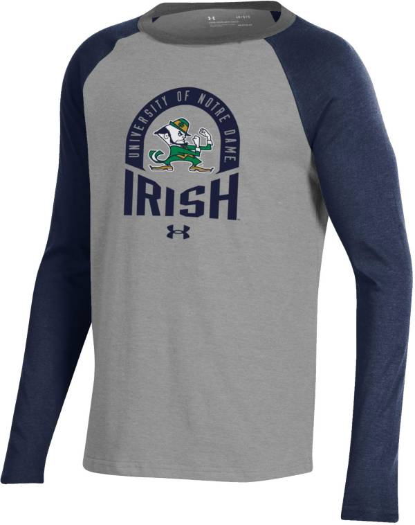 Under Armour Youth Notre Dame Fighting Irish Navy Performance Cotton Baseball T-Shirt product image