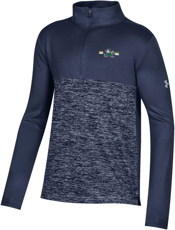 Under Armour Youth Notre Dame Fighting Irish Navy Twist Quarter-Zip Performance Shirt product image