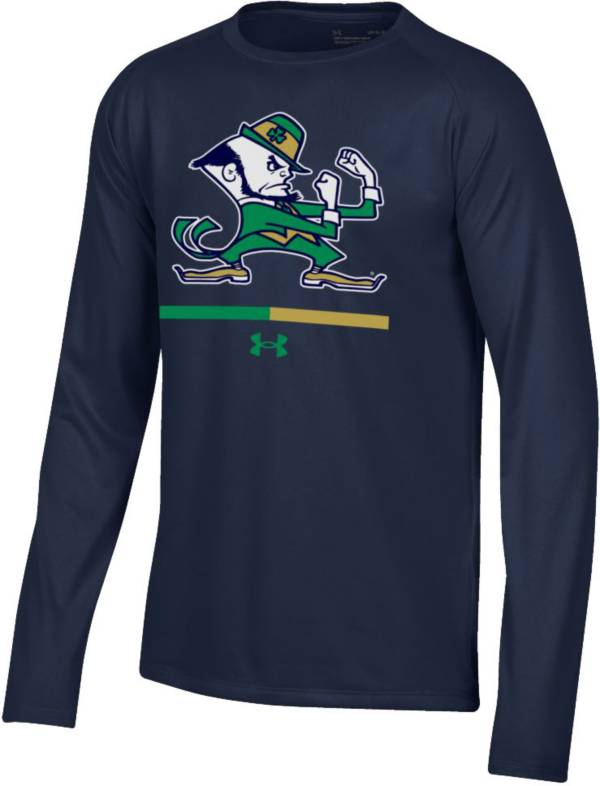 Under Armour Youth Notre Dame Fighting Irish Navy Tech Performance Long Sleeve T-Shirt product image