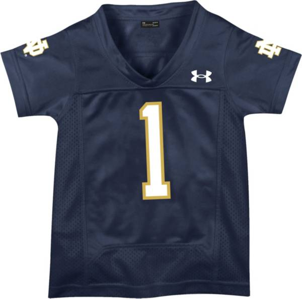 Under Armour Toddler Notre Dame Fighting Irish #1 Navy Replica Football Jersey product image