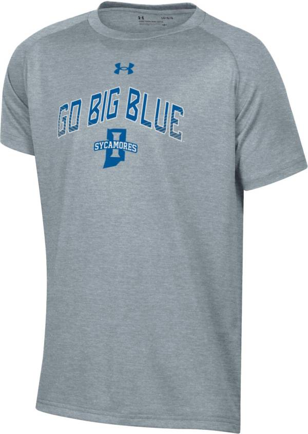 Under Armour Youth Indiana State Sycamores Grey Tech Performance T-Shirt product image