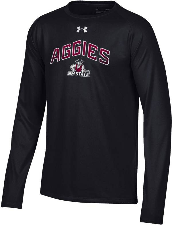 Under Armour Youth New Mexico State Aggies Tech Performance Long Sleeve Black T-Shirt product image