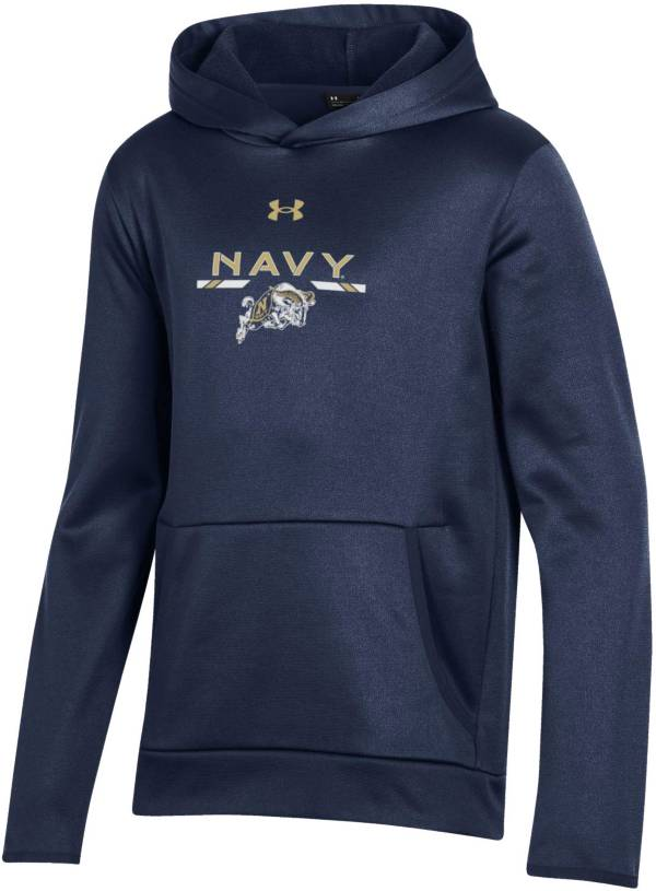 Under Armour Youth Navy Midshipmen Navy Armour Fleece Pullover Performance Hoodie product image