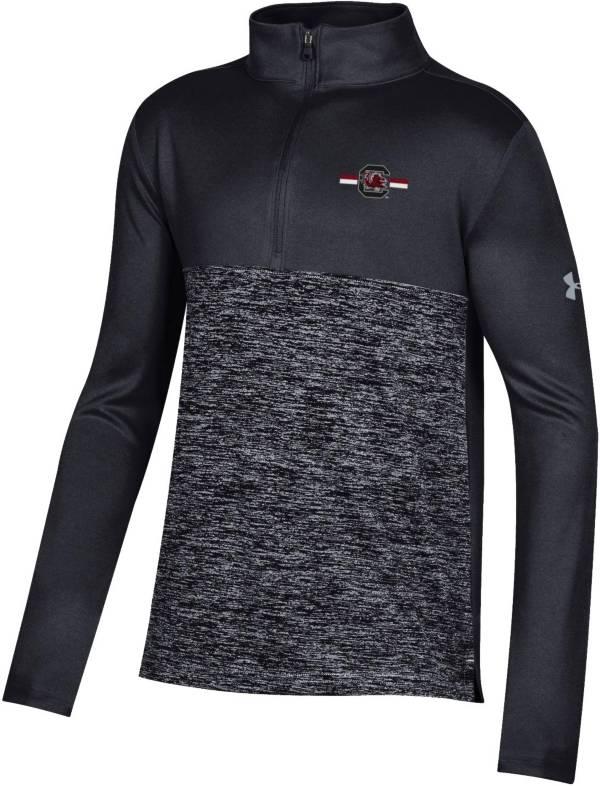 Under Armour Youth South Carolina Gamecocks Twist Quarter-Zip Performance Black Shirt product image