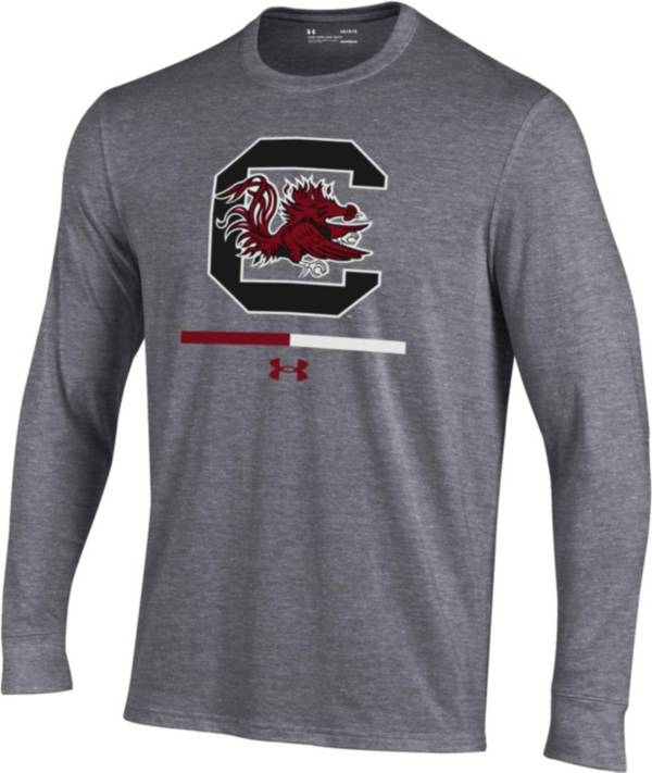 Under Armour Youth South Carolina Gamecocks Grey Charged Cotton Long Sleeve Performance T-Shirt product image