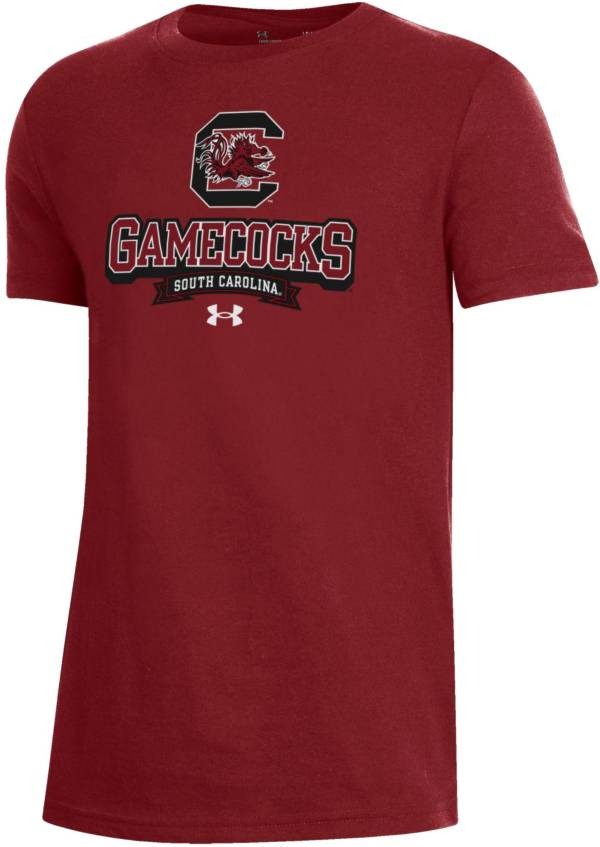 Under Armour Youth South Carolina Gamecocks Garnet Performance Cotton T-Shirt product image