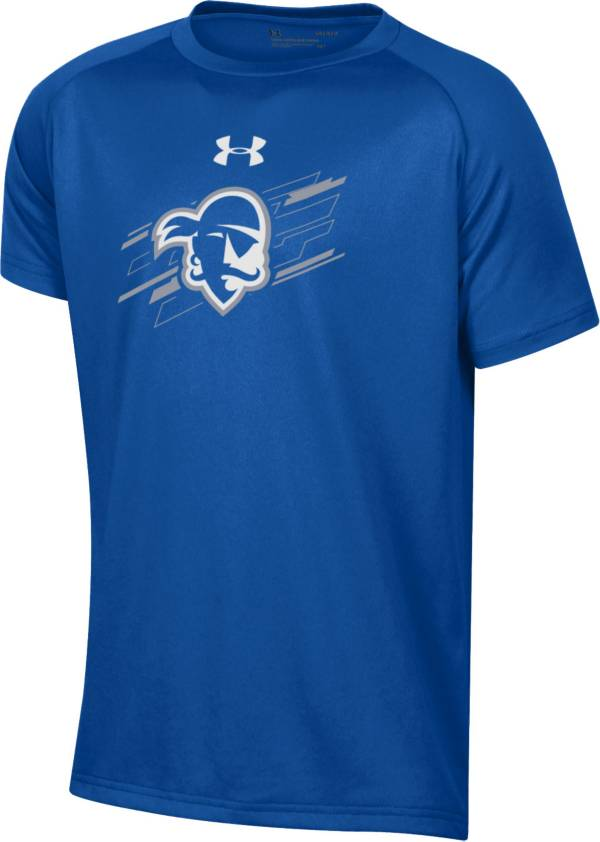 Under Armour Youth Seton Hall Pirates Blue Tech Performance T-Shirt product image