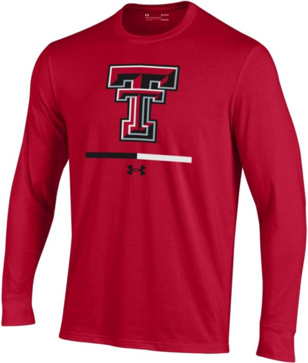 Under Armour Youth Texas Tech Red Raiders Red Charged Cotton Long Sleeve Performance T-Shirt product image