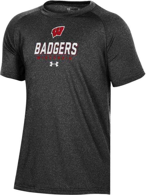 Under Armour Youth Wisconsin Badgers Tech Performance Black T-Shirt product image