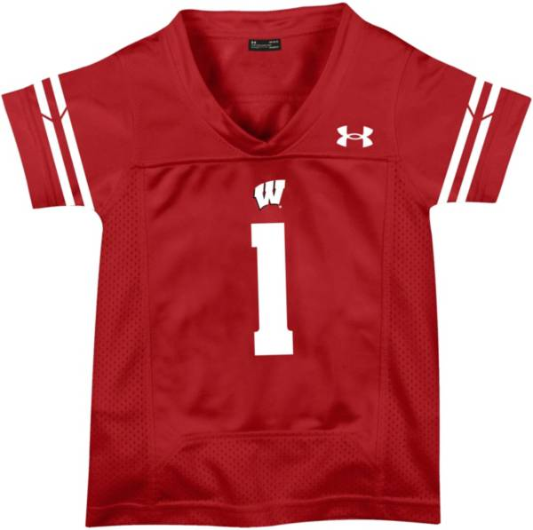 Under Armour Toddler Wisconsin Badgers #1 Red Replica Football Jersey product image