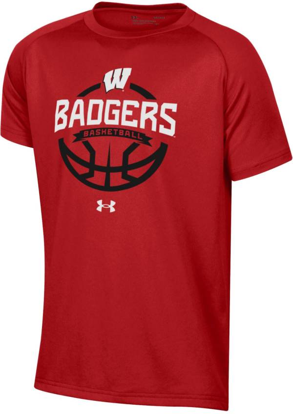 Under Armour Youth Wisconsin Badgers Red Tech Performance Basketball T-Shirt product image