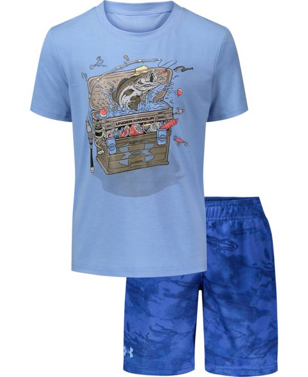 Under Armour Boys' Tackle Box T-Shirt and Shorts 2-Piece Set product image