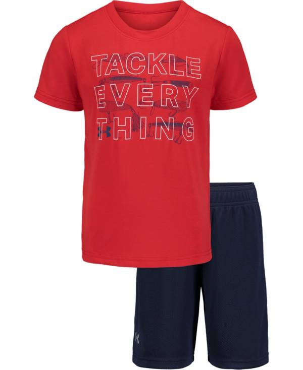 Under Armour Little Boys' Tackle Everything T-Shirt and Shorts 2-Piece Set product image