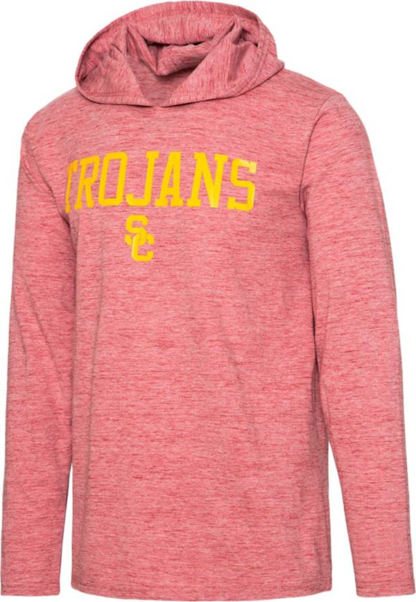 USC Authentic Apparel Men's USC Trojans Cardinal Zophar Hooded Long Sleeve T-Shirt product image