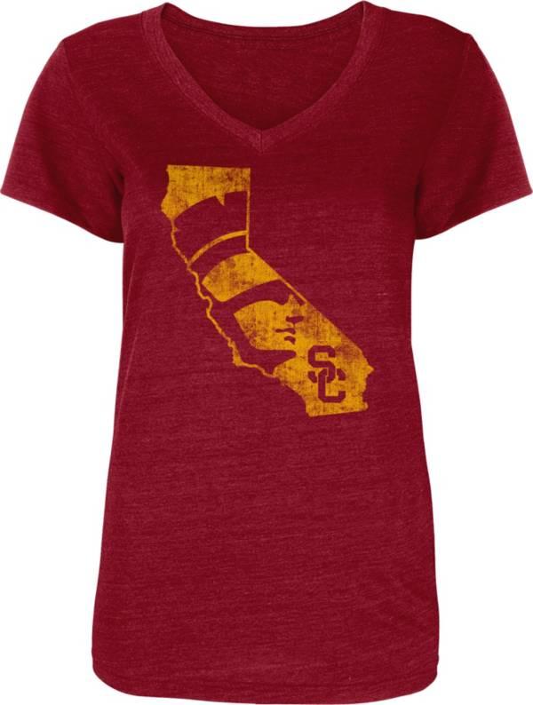USC Authentic Apparel Women's USC Trojans Cardinal Zula T-Shirt product image