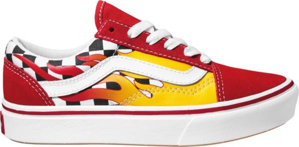 Vans Kids' Preschool ComfyCush Old Skool Red Flame Shoes product image