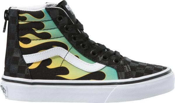 Vans Kids' Grade School SK8-Hi Zip Glow Flame Shoes product image