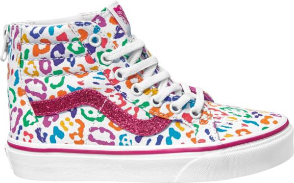 Vans Kids' Grade School Sk8-Hi Rainbow Leopard Shoes product image
