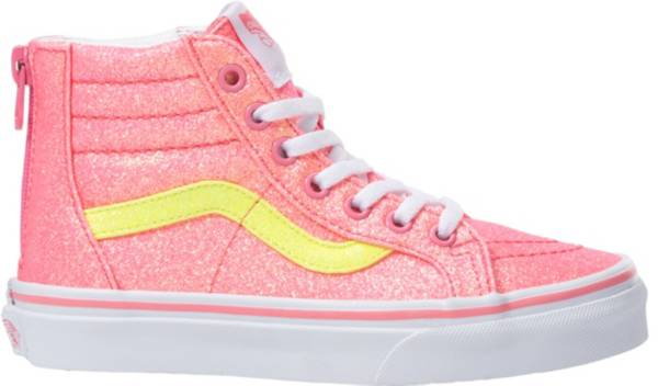 Vans Kids' Grade School Sk8-Hi Zip Glitter Shoes product image