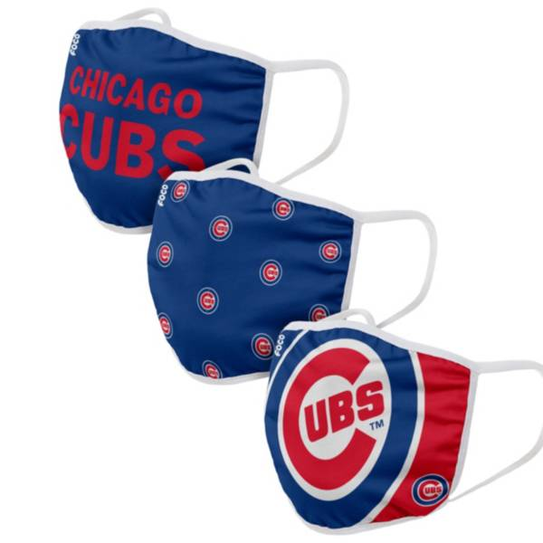 FOCO Adult Chicago Cubs 3-Pack Face Coverings product image