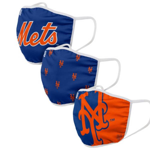FOCO Adult New York Mets 3-Pack Face Masks product image