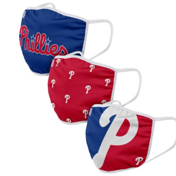 FOCO Adult Philadelphia Phillies 3-Pack Face Masks product image