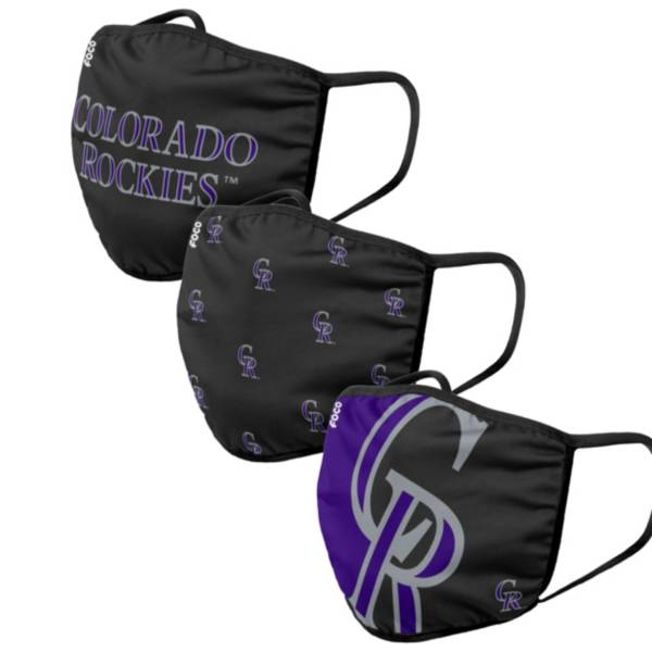 FOCO Adult Colorado Rockies 3-Pack Face Coverings product image