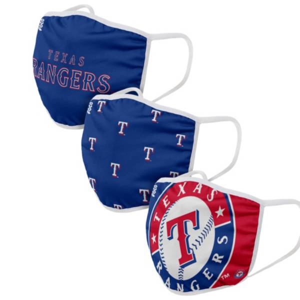 FOCO Adult Texas Rangers 3-Pack Facemasks product image