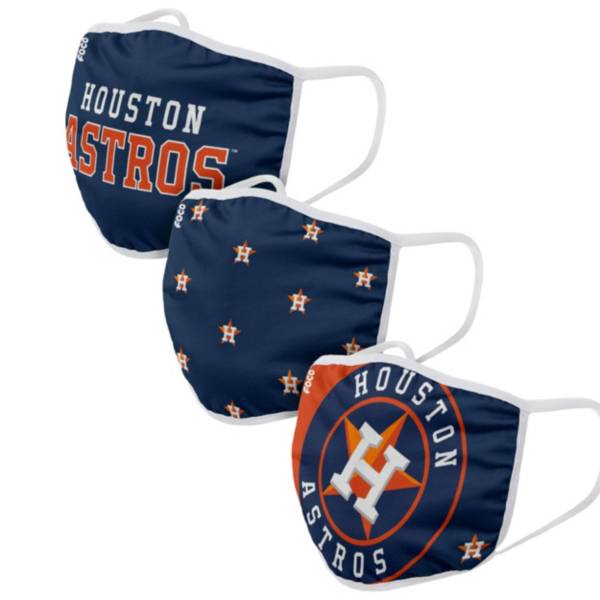FOCO Adult Houston Astros 3-Pack Face Masks product image