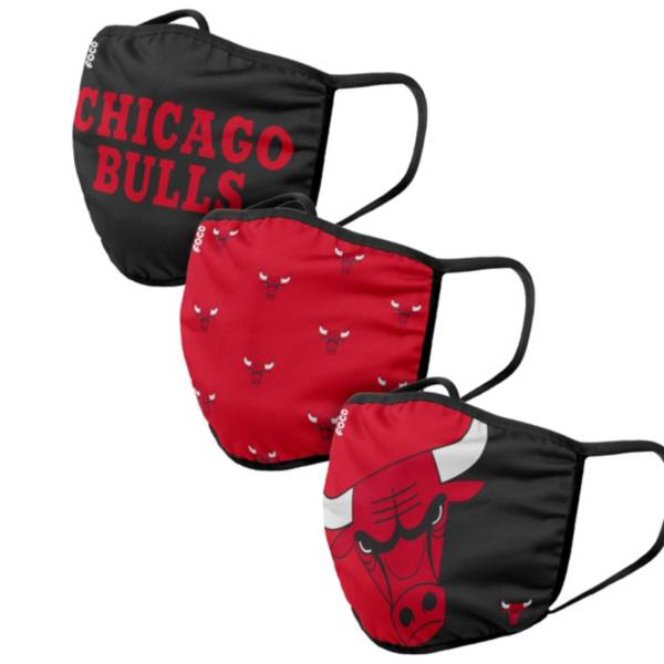FOCO Adult Chicago Bulls 3-Pack Face Masks product image