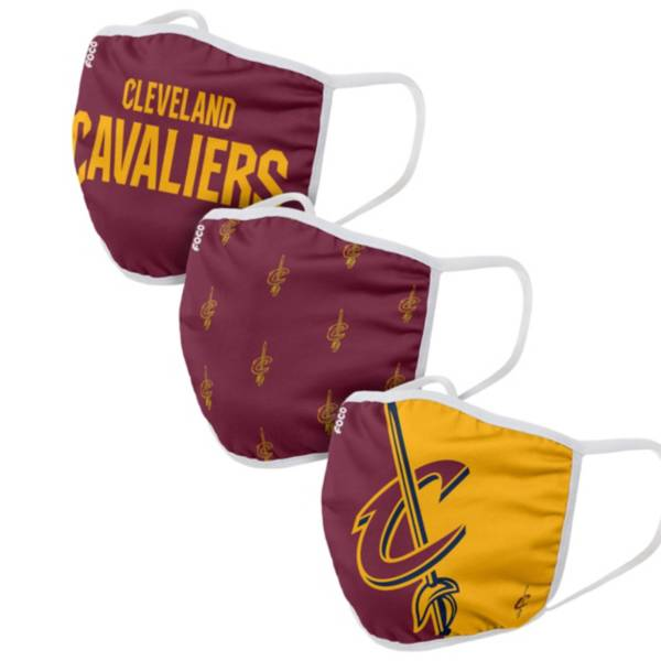 FOCO Adult Cleveland Cavaliers 3-Pack Face Coverings product image