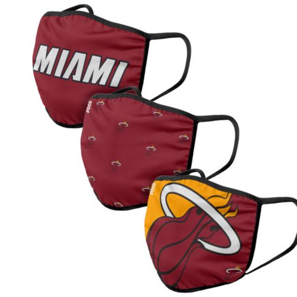 FOCO Adult Miami Heat 3-Pack Face Coverings product image