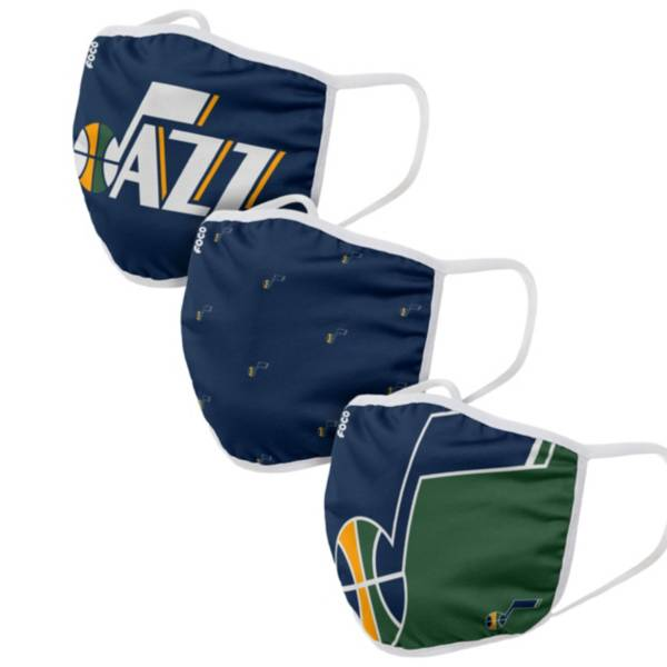FOCO Adult Utah Jazz 3-Pack Face Coverings product image