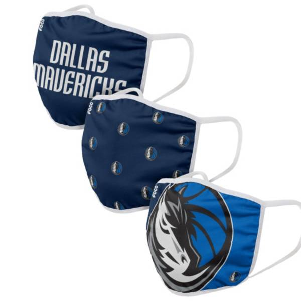 FOCO Adult Dallas Mavericks 3-Pack Face Coverings product image