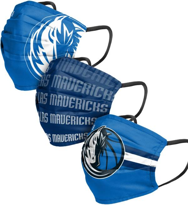 FOCO Adult Dallas Mavericks 3-Pack Matchday Face Coverings product image