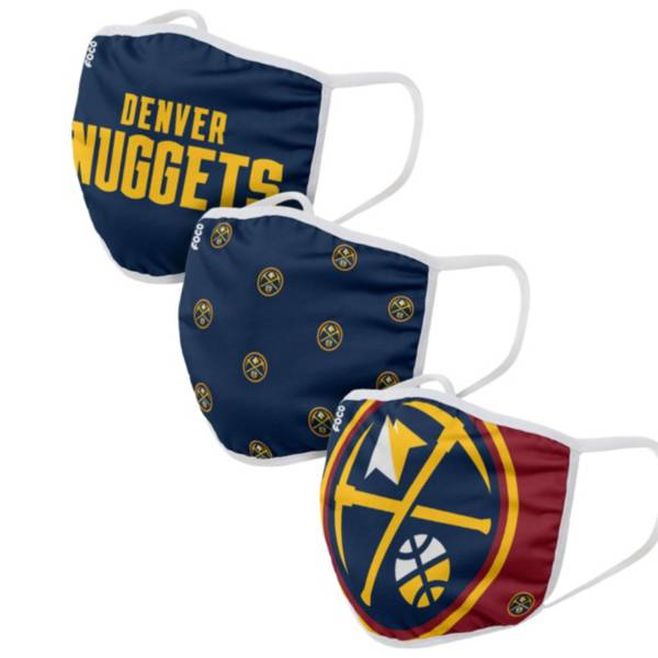 FOCO Adult Denver Nuggets 3-Pack Face Coverings product image