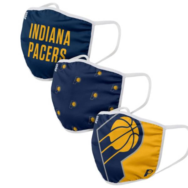 FOCO Adult Indiana Pacers 3-Pack Face Coverings product image